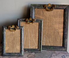 Collection Set of 3 Picture Frames/Up-cycled/ by PippinPost