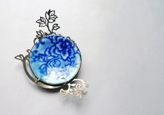 Blue and white series- brooch