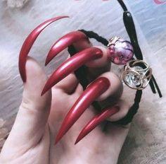 -  - #Genel Long Black Nails, Black Stiletto Nails, Sexy Nails, Hot Nails, Classy Acrylic Nails, Red Acrylic Nails, Long Natural Nails, Curved Nails, Exotic Nails