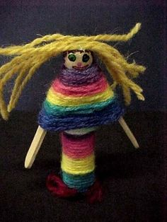 Grade Worry Dolls from Prince Street Elementary Art Lessons For Kids, Art Activities For Kids, Art Lessons Elementary, Art For Kids, 3rd Grade Art, Grade 3, Sculpture Lessons, Worry Dolls, Clothespin Dolls