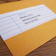 #Printable Wrap Around Mailing Label. Adorbs.