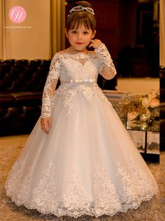 Cheap communion dresses, Buy Quality flower girl dresses directly from China holy communion dresses Suppliers: Elegant Princess Flower Girls Dresses for Weddings Lace Long Sleeve Boat Neck Vintage Girl Pageant Gowns Holy Communion Dress Kids Pageant Dresses, Wedding Dresses For Kids, Pageant Gowns, Little Girl Dresses, Girls Dresses, Evening Dresses, Wedding Gowns, Toddler Pageant, Homecoming Dresses