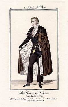 Petit Courrier des Dames 1822 Modes de Paris N°101 Dandy