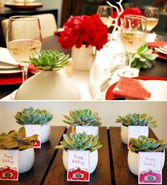 party favors - red and green christmas party