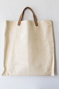leather tote bag – Lost & Found perfect foodie's shopping bag . Followmu.com