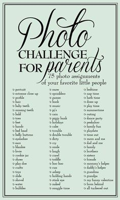 Parents photo challenge