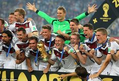 Infantino also wants the World Cup expanded to 48 teams for the start of the 2026 tournament, pictured Germany celebrating their 2014 triumph