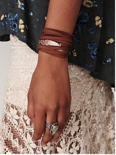 wrapped leather cuff | via Free people