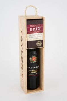 Brix Chocolate and Taylor's Port Wine Gift Set in Portugal. Gift. Kosher. Chocolate for Wine.