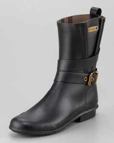 Burberry Motorcycle Rain Boot on shopstyle.com