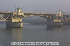 Burnside Bridge: Finished in 1926, the Burnside Bridge, another drawbridge, marks the absolute center of Portland, because Burnside Street divides the city into its north-south sectors and the Willamette River divides it into its east-west sectors.