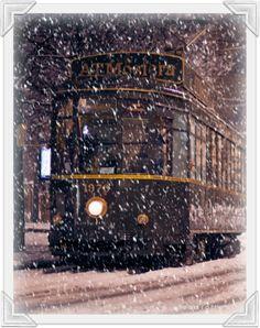 Tram ATMosfera, Milano, Italy, Snowfall