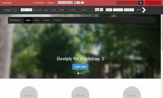 Bootply visual editor with preview of starter template