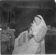 "Grand Duchess Olga Alexandrovna Romanova of Russia in her nurse's uniform.    ""AL"""