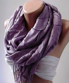 Lilac  Silk Shawl / Scarf Pareo by womann on Etsy, $14.90