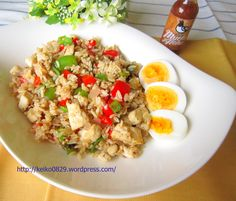 Fried Rice with Mucho Aloha Hot Sauce