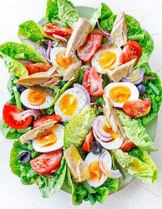 Sałatka nicejska Anti Pasta Salads, Pasta Salad Recipes, Fruit Recipes, Great Dinner Recipes, Healthy Dinner Recipes, Cooking Recipes, Healthy Recepies, Spring Recipes, Superfood