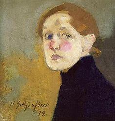 Finnish National Gallery - Art Collections - Helene Schjerfbeck Self-Portrait, 1912 Helene Schjerfbeck, Modern Portraits, Self Portraits, Royal Academy Of Arts, Scandinavian Art, Famous Art, Beauty Art, Figurative Art, Art Museum