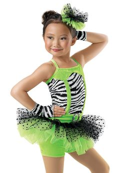 Jazz 2014 recital  Girls' Zebra Skirt Biketard; Weissman Costumes