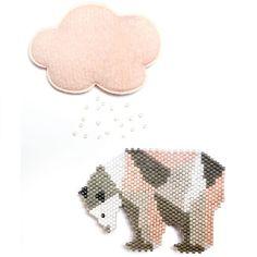 DIY Tissage de perles Miyuki motif ours polaire