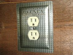 Vintage Ovenex Baking Pan Outlet Cover by tin can sally, via Flickr