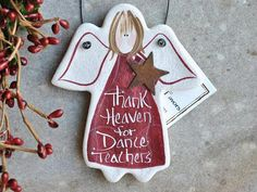 Dance Teacher Gift Salt Dough Ornament