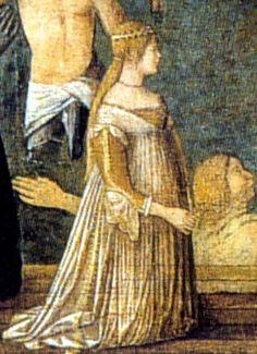 Venetian lightweight gown (notice the drape). Circa 1490s.