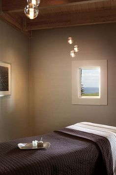 MIRROR TO MAKE SMALL RROMS LOOK BIGGER.   Samoset Resorts Spa Treatment Room