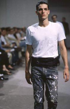 Helmut Lang 1998 inked jeans