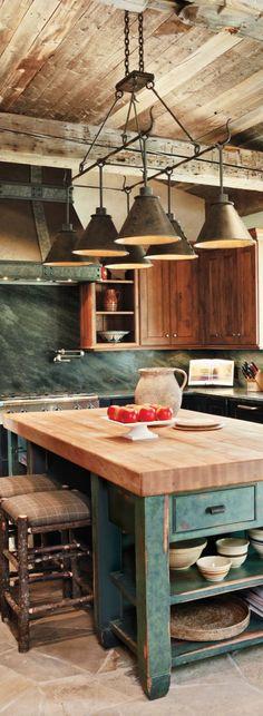 Green Rustic Kitchen