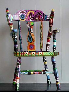 Renueva los muebles viejos y dales alegría con pintura. | Mil ideas de Decoración