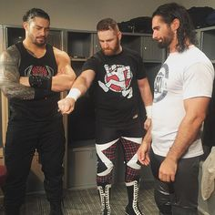 Roman Reigns, Sami Zayn and Seth Rollins Wwe Superstar Roman Reigns, Wwe Roman Reigns, Wwe Seth Rollins, Wwe Pictures, The Shield Wwe, Wwe Champions, Total Divas, Try Not To Laugh, Wwe Wrestlers