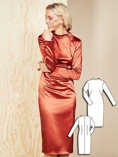 Long Sleeve Sheath Dress 11/2015 #114 http://www.burdastyle.com/pattern_store/patterns/long-sleeve-sheath-dress-112015?utm_source=burdastyle.com&utm_medium=referral&utm_campaign=bs-tta-bl-151109-CoolCamelCollection114