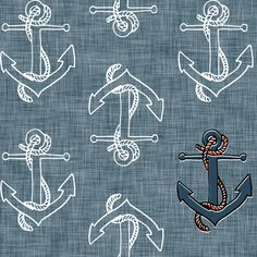Anchors Away fabric by nouveau_bohemian on Spoonflower - custom fabric