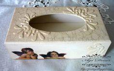 Las servilletas de mi alacena (pág. 31) | Aprender manualidades es facilisimo.com Decoupage, Jewellery Boxes, Tissue Boxes, Repurposed, Stencils, Pasta, Frame, Crafts, Home Decor
