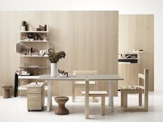 Works and String System help each other out building the most flexible and beautiful offices. Adjustable Height Table, Adjustable Desk, Adjustable Shelving, Shelving Solutions, Shelving Systems, Workspace Inspiration, Furniture Inspiration, Swedish Design, Scandinavian Design