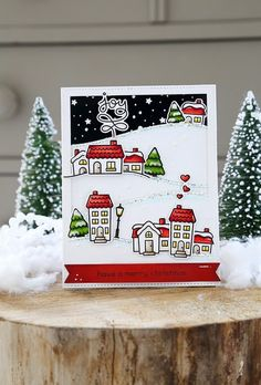 hi there! It's Lawn Fawn inspiration week, and today we're showing off the super sweet Winter Village set. I love this card! You k...
