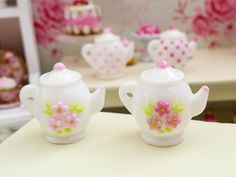 Items similar to Dollhouse Miniature - Shabby Chic Working Style Tea Set Chandelier - 1/12th scale on Etsy
