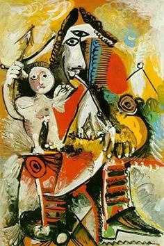 Moschettiere e cupido, Pablo Picasso