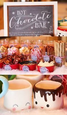 The Ultimate Holiday Party hot chocolate bar!