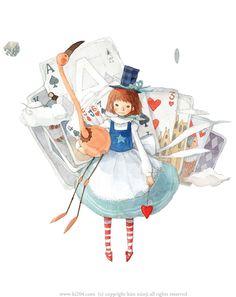 """Kim Min Ji, """"Alice in Wonderland"""" illustration"""