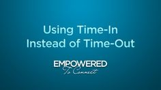 Using Time-In Instead of Time-Out by Tapestry. Watch as Dr. Karyn Purvis explains the use of time-in (as opposed to time-out) to correct and connect with our children.