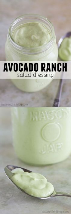 You'll never want to have regular ranch dressing after trying this Avocado Ranch Salad Dressing!