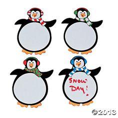 Magnetic Dry-Erase Penguins!