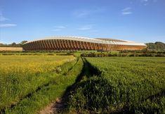 Zaha Hadid Architects construirá o primeiro estádio do mundo feito inteiramente em madeira, Exterior Rendering. Image © VA. Courtesy of Zaha Hadid Architects
