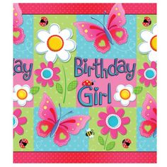 """Decor idea without the """"Birthday Girl"""". Party would be just a cute Garden Party theme"""