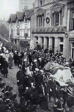 Queen Victoria's Funeral Procession. The end of the Victorian era.