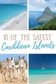 10 of the Safest Caribbean Islands (And The Best Places to Stay!) #travel #traveltips #caribbean #tropical