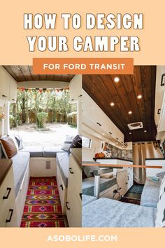 In this post I will share if you some tips I follow when I began designing our stunning campervan interior. Following these simple rules can give your van that photogenic and timeless look. #fordtransitcamper #vandesignideas #campervaninterior Moroccan Design, Moroccan Style, Van Conversion Ford Transit, Ford Transit Camper, Wood Stain Colors, Van Design, Floor Plan Layout, Campervan Interior, Interior Decorating