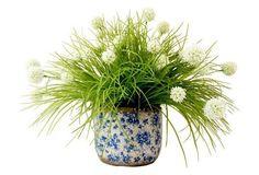 """27"""" Allium in Pot, Faux"""